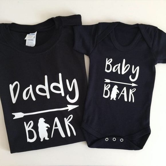 Daddy Bear & Baby Bear T-shirt Set
