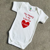 Personalised Valentine's Vest T-Shirt - My Mummy Daddy Is My Valentine Vest T-Shirt - Valentine's Day Gift - Daddy Dad Mummy Mum