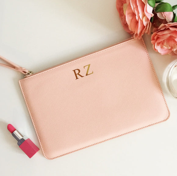 Personalised Faux Leather Accessory Clutch Bag