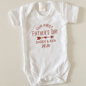 Our First Father's Day Personalised Vest