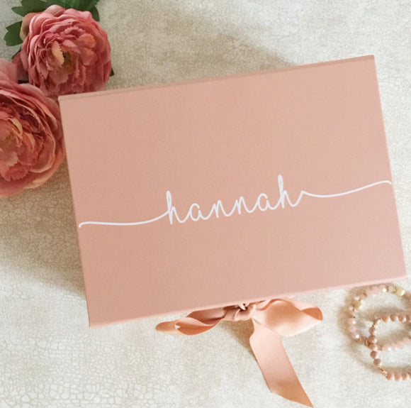 Personalised Rose Gold Gift Box
