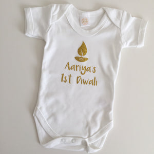 First Diwali Personalised Baby Vest - Divo Design