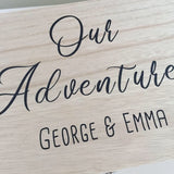 Personalised Wooden Our Adventures Keepsake Box