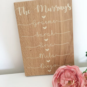 A4 Wooden Personalised Plaque