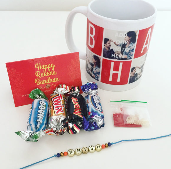 Personalised Rakhi in a Mug