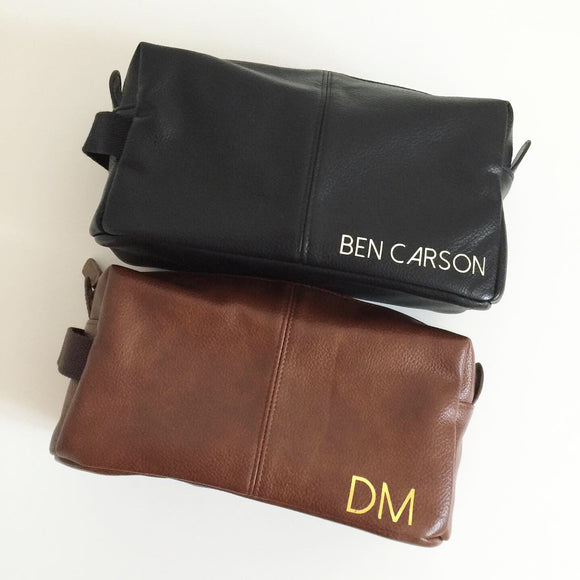 Personalised Initial or Name Mens Wash Bag