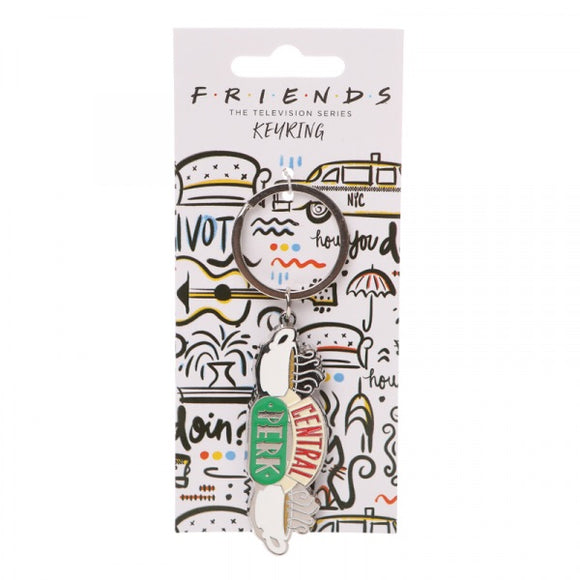 Friends TV Sitcom Central Perk Coffee Shop Logo Keyring