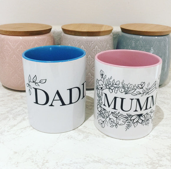 Mummy and Daddy Mug Set - Mummy Nutrition Collection