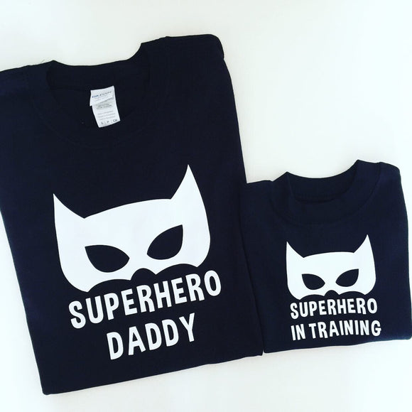 Superhero Daddy Superhero in Training T-shirt Set