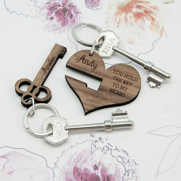You Hold The Key To My Heart Set of 2 Keyrings