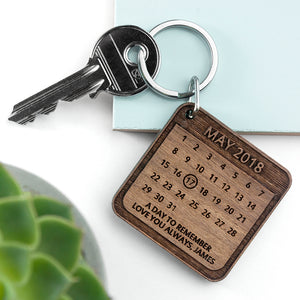 Personalised A Day To Remember Square Keyring