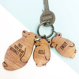 Personalised This Papa Bear Belongs To Keyring Set