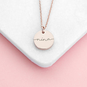 Personalised Disc Name Necklace