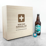 Personalised Emergency New Dad Kit Wooden Box