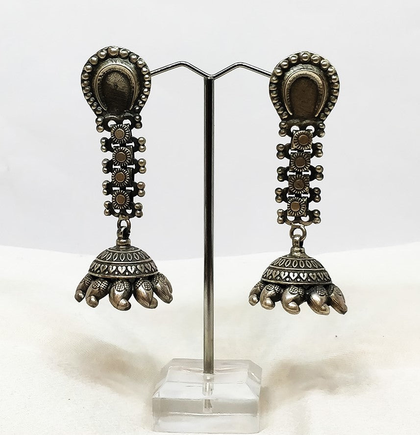Silver antique earring - the ladakh art palace