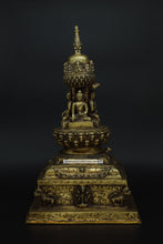 Load image into Gallery viewer, Brass Buddha stupa - the ladakh art palace