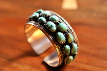 Load image into Gallery viewer, Turquoise and silver bangle. - the ladakh art palace