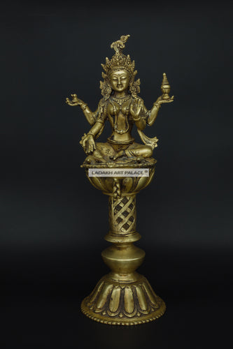 Brass Tara Devi Diya - the ladakh art palace
