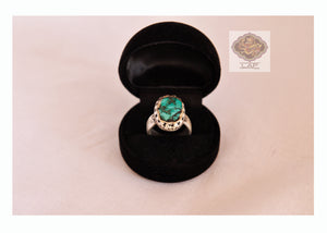 Old Turquoise Silver Ring - the ladakh art palace