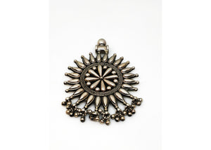 Pure Silver Sun Pendant - the ladakh art palace