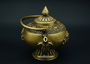 Bronze holy water kettle - the ladakh art palace