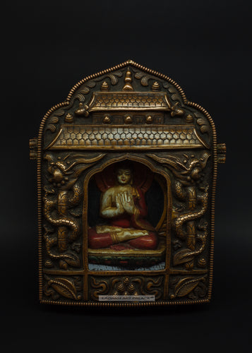 Bronze amulet of Shakyamuni Buddha - the ladakh art palace