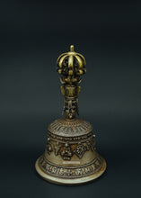 Load image into Gallery viewer, Bronze bell Buddha carving - the ladakh art palace