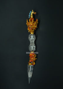 Crystal dagger phurpa - the ladakh art palace