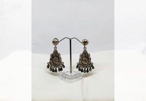 Pure Silver Ganesh Ji Earring - the ladakh art palace