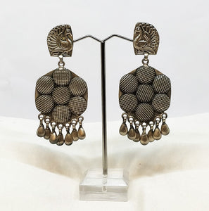 Pure Silver Hanging earring - the ladakh art palace