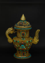 Load image into Gallery viewer, Gold plated filigree teapot - the ladakh art palace
