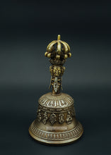Load image into Gallery viewer, Bronze Bell With Buddha Figure - the ladakh art palace