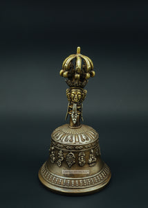 Bronze Bell With Buddha Figure - the ladakh art palace