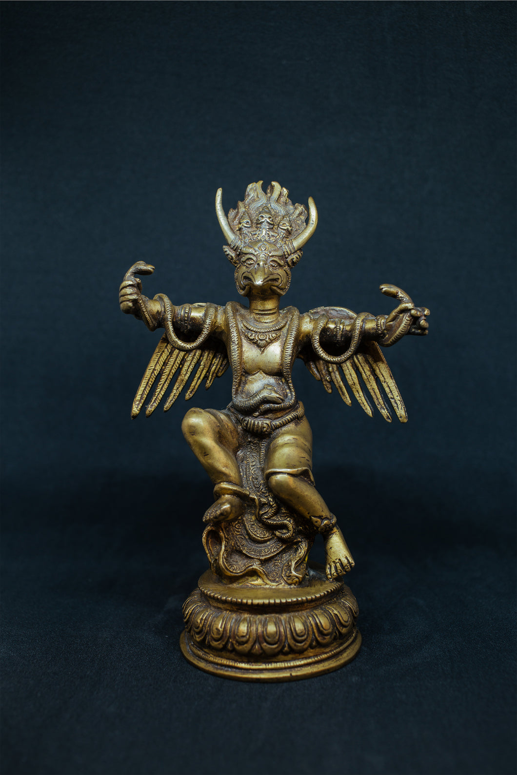 Brass metal Garuda - the ladakh art palace