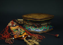 Load image into Gallery viewer, Drum or Dumru with Lapis lazuli and Turquoise stones - the ladakh art palace
