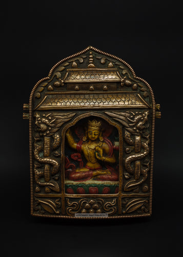 Bronze amulet of Manjushri Buddha - the ladakh art palace