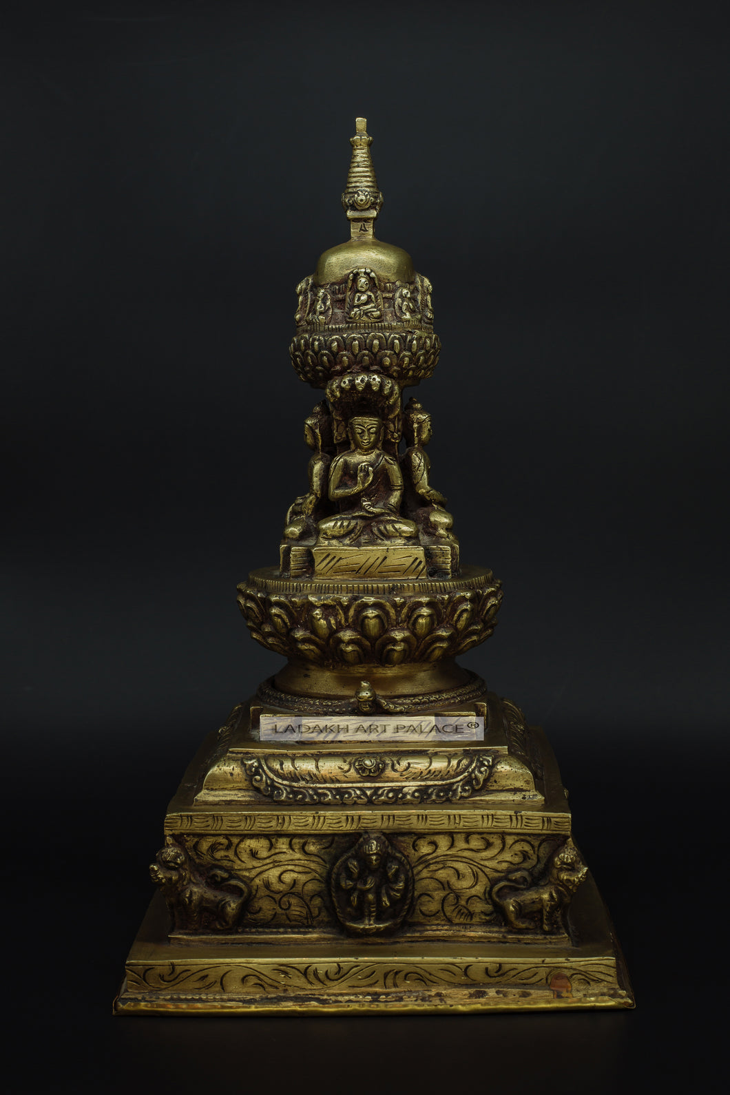 Brass Buddha stupa - the ladakh art palace