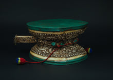 Load image into Gallery viewer, Silver Carved Drum or Dumru - the ladakh art palace