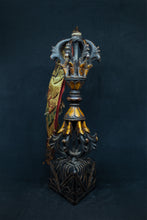 Load image into Gallery viewer, Metal Vajra With Wooden Base and a tassel - the ladakh art palace