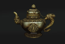 Load image into Gallery viewer, Brass and White Metal Teapot Hand made in Ladakh - the ladakh art palace