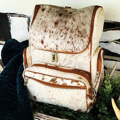 This will be seriously your favorite cowhide backpack for travel, school or even baby diaper bag, you can carry it everywhere and get nothing but compliments.