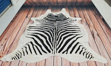 Black And White Zebra Cowhide Rug
