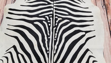 cowhide zebra rug Brazilian Printed Cow Hide 91 by 74 inches 1516