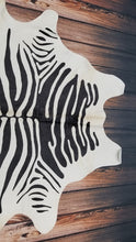 zebra cowhide rug Brazilian Hair On Cow Hide 78 by 77 inches 1517