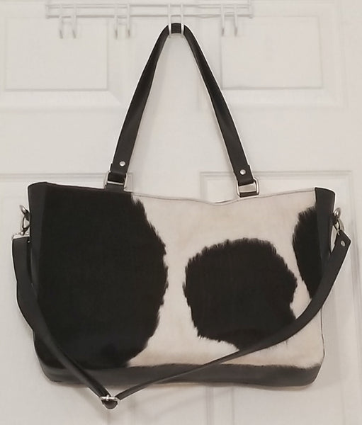 Cowhide hospital bag