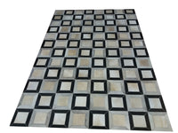 Burke Geometric Patchwork Cowhide Leather Rugs