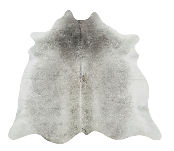 Cowhide Rug Grey Brazilian 6ft x 5ft