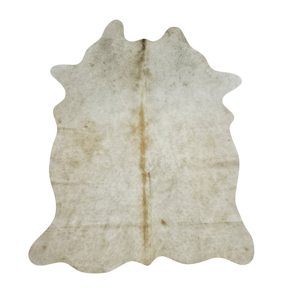 Extra Small Cowhide Rug Grey Beige 5ft x 3.5ft