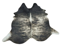 Natural Dark Brindle Cowhide Rug 7ft x 6.8ft