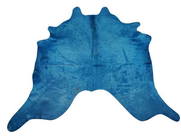 This dyed turquoise cowhide rug will change the whole look of the room, it is absolutely stunning, love it! great quality and the perfect size